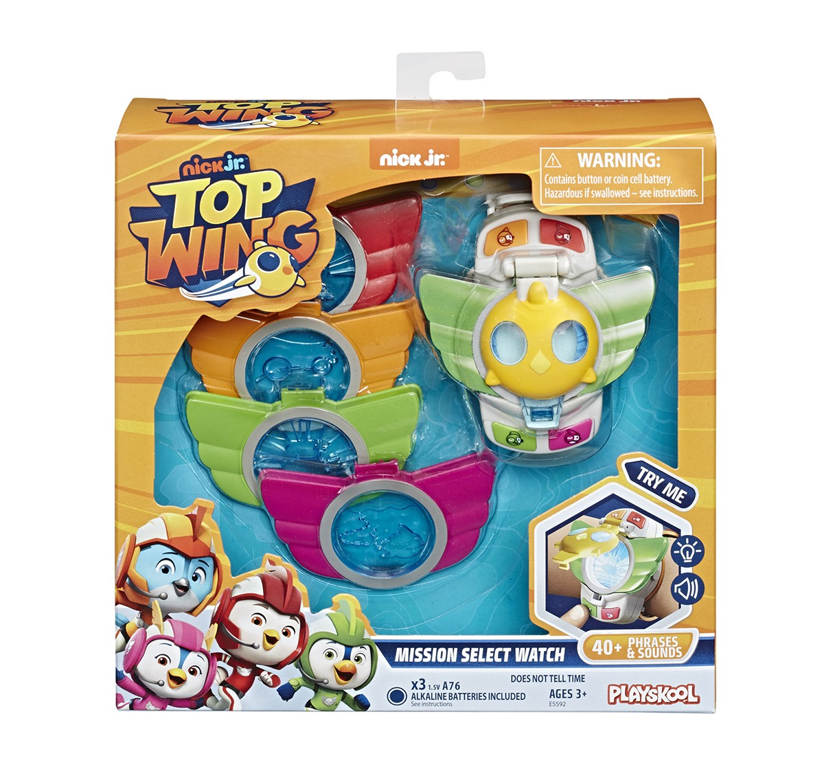 Playskool Top Wing Mission Select Watch With 40+ Lights, Sounds, And Badges Activity Toys for Kids age 3Y+