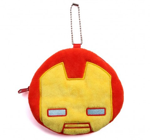 Marvel Ironman Plush Coin Purse, Red, 12Y+