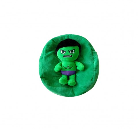 Marvel Disney  Hulk Toy On Bag Plush Accessories for Kids age 3Y+ - 25 Cm (Green)