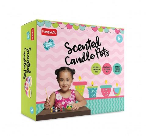 Funskool - Handycrafts Scented Candle Pots DIY Art & Craft Kits for Girls age 5Y+