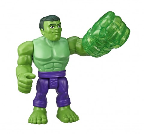 Super Hero Adventures Marvel Hulk Action Figure Assorted Activity Toys for Boys age 3Y+ (Green)