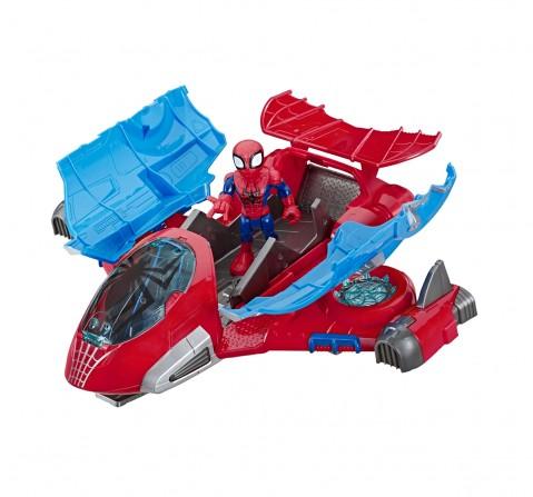 Playskool Heroes Marvel Super Hero Adventures Spider-Man Jetquarters  Activity Toys for Kids age 3Y+