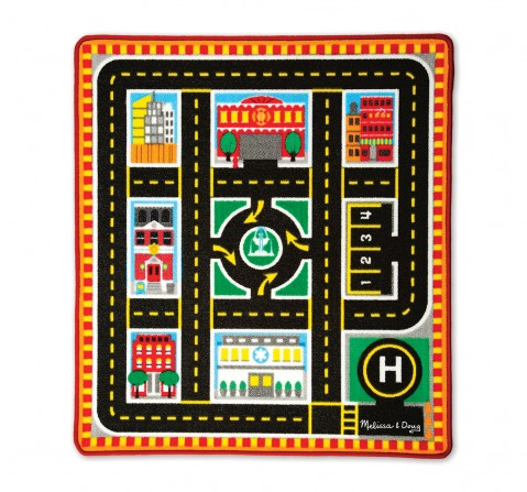 Melissa & Doug : Round the city rescue rug Baby Gear for Kids age 3Y+