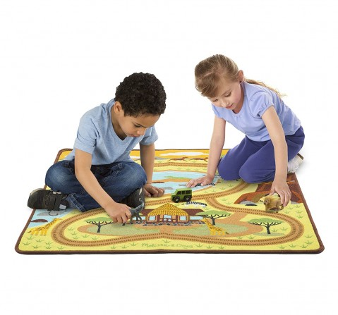 Melissa And Doug Round Savanna Rug Baby Gear for Kids age 3Y+