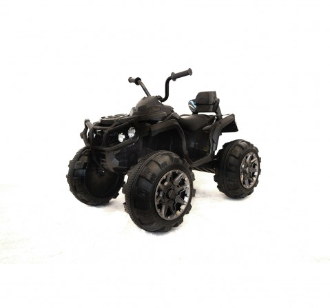 Bettyma ATV 4-Wheel Ride-On Car With RC Small for Kids age 5Y+ (Black)