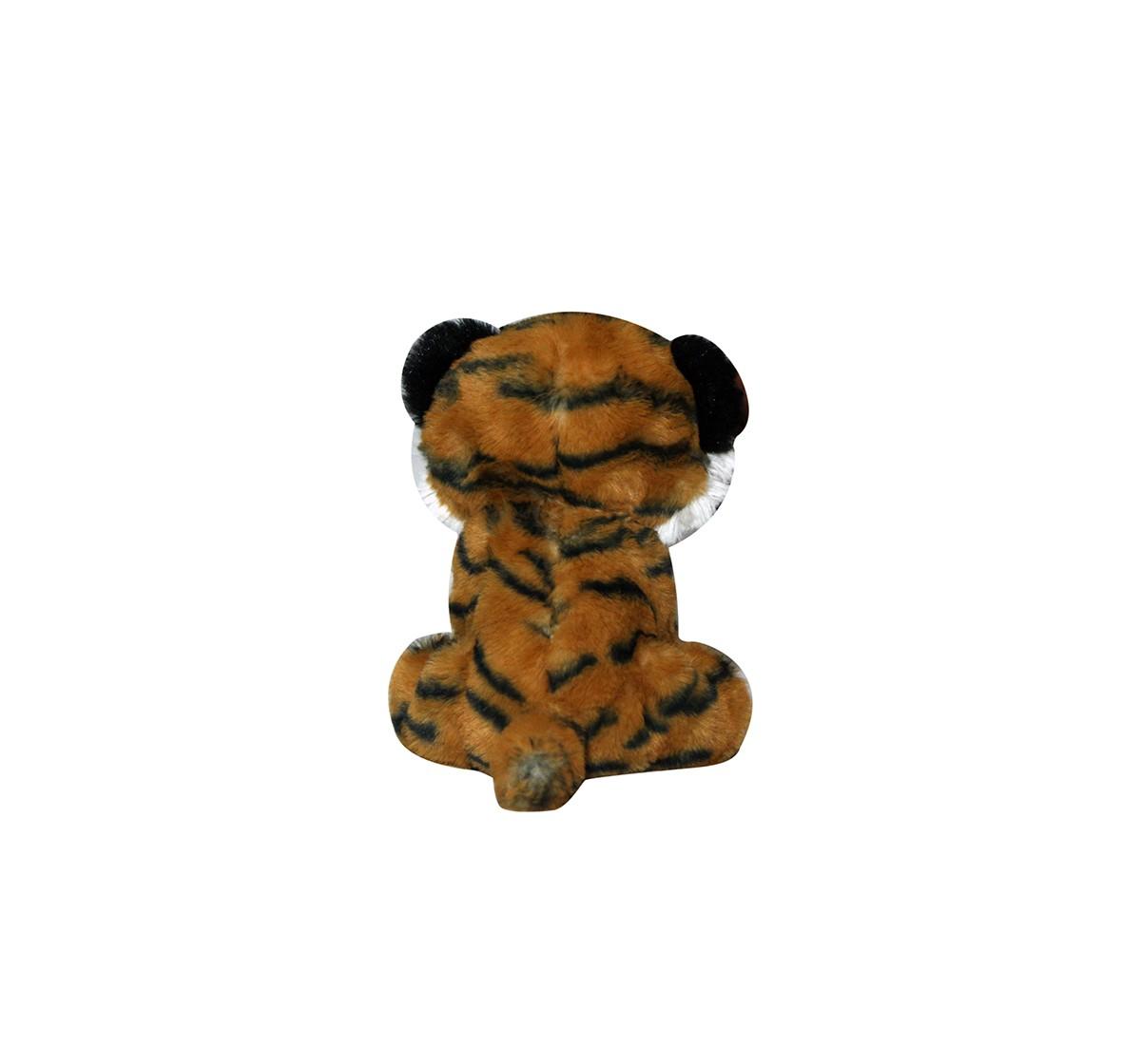 Softbuddies Big Eye Tiger Quirky Soft Toys for Kids age 3Y+ - 20 Cm (Brown)