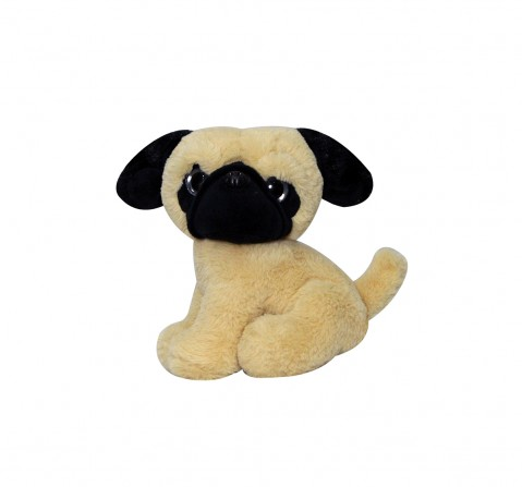 Softbuddies PugQuirky Soft Toys for Kids age 3Y+ - 24 Cm (Brown)