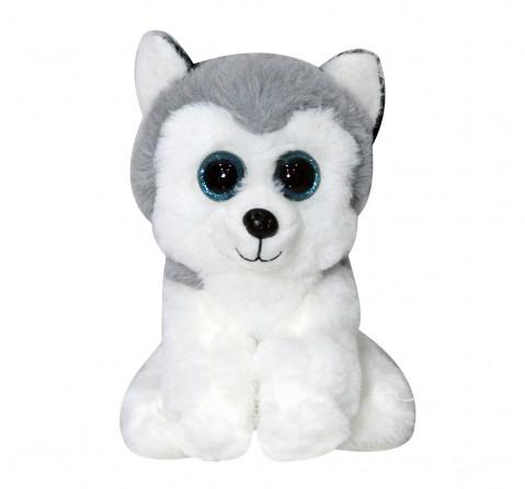 Softbuddies Big Eye Husky Dog30 Cm Quirky Soft Toys for Kids age 3Y+ 30 Cm