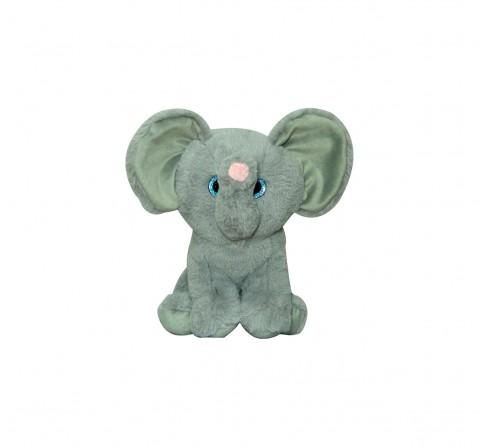Softbuddies Big Eye Elephant Quirky Soft Toys for Kids age 3Y+ - 30 Cm (Grey)