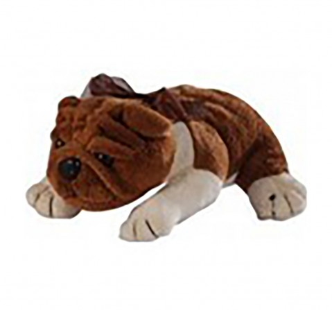 Soft Buddies Lying Bull Dog Large Quirky Soft Toys for Kids age 3Y+ - 37 Cm (Brown)