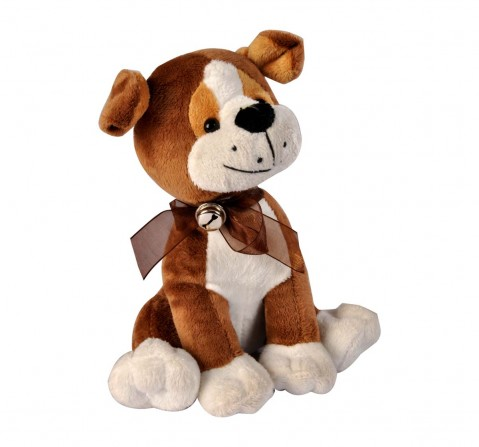 Softbuddies Cute Brown Dog Large, Quirky Soft Toys for Kids age 3Y+ 35 Cm