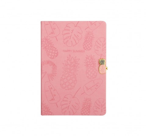 Syloon Tropical - Pink Pu A5 Notebook Study & Desk Accessories for Kids age 5Y+ (Pink)
