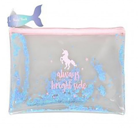 Syloon Fluid Filled Pencil Pouch Unicorn Pencil Pouches & Boxes for Kids age 3Y+