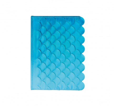 Syloon Metallic - Mermaid Blue Holo Pu A5 Notebook Study & Desk Accessories for Kids age 5Y+ (Blue)