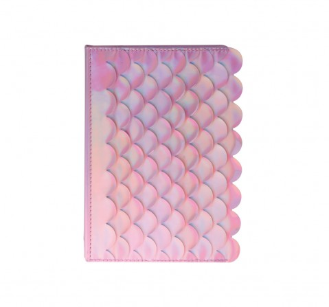 Syloon Metallic - Mermaid Pink Holo Pu A5 Notebook Study & Desk Accessories for Kids age 5Y+ (Pink)
