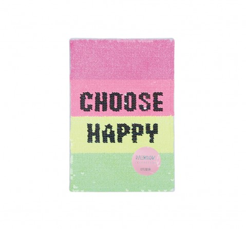 Syloon Rainbow - Choose Happy Sequin A5 Notebook Study & Desk Accessories for Kids age 5Y+