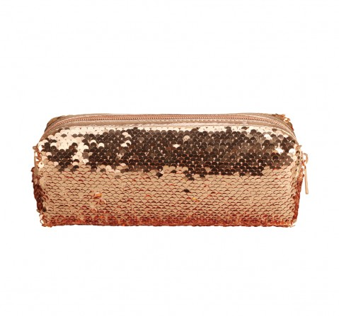 Syloon Metallic - Rose Gold Sequin Pencil Pouch Pencil Pouches & Boxes for Kids age 5Y+