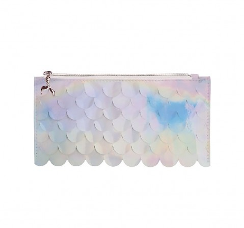 Syloon Metallic - White Mermaid Scale Pencil Pouch Pencil Pouches & Boxes for Kids age 5Y+