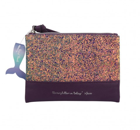 Syloon Metallic - Purple Glitter Pu Pencil Pouch Pencil Pouches & Boxes for Kids age 5Y+
