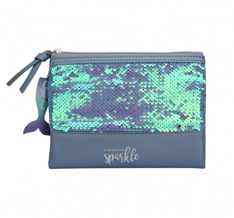 Syloon Metallic - Blue Sequin Mermaid Pencil Pouch Pencil Pouches & Boxes for Kids age 5Y+