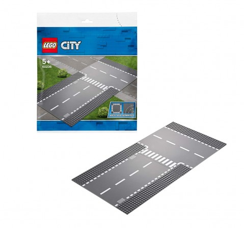 Lego City Straight And T-Junction Building Blocks for Kids age 5Y+