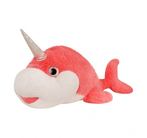 Fuzzbuzz The Narwhal Plush - Pink - 105Cm Quirky Soft Toys for Kids age 12M+ - 40 Cm (Pink)