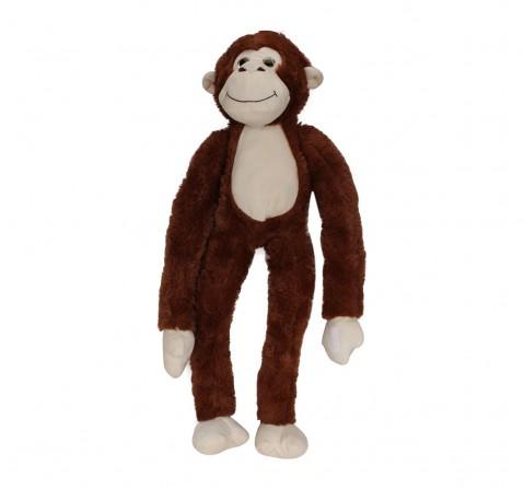 Fuzzbuzz Monkey Animal Plush - Brown - 71Cm Quirky Soft Toys for Kids age 0M+ - 14 Cm (Brown)