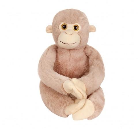 Fuzzbuzz Monkey Animal Plush - Grey - 61Cm Quirky Soft Toys for Kids age 0M+ - 12 Cm (Grey)
