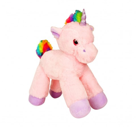 Fuzzbuzz Lying Unicorn Plush - Pink - 53Cm Quirky Soft Toys for Kids age 0M+ - 28 Cm (Pink)