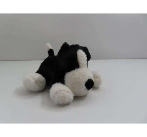 Fuzzbuzz Soft Lying Dog - Black - 33Cm Quirky Soft Toys for Kids age 0M+ - 15 Cm (Black)