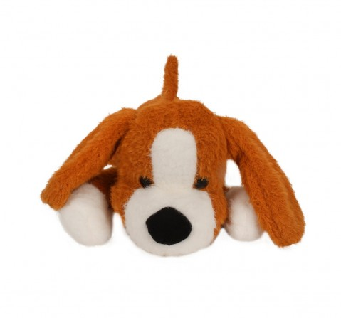 Fuzzbuzz Soft Lying Dog - Lt. Brown - 33Cm Quirky Soft Toys for Kids age 0M+ - 15 Cm (Light Brown)