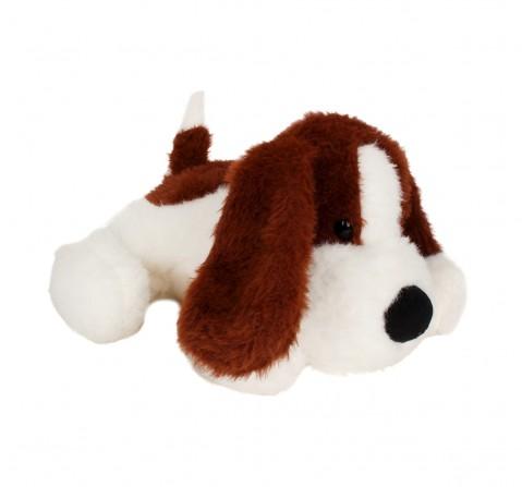 Fuzzbuzz Soft Lying Dog - Dark Brown - 33Cm Quirky Soft Toys for Kids age 0M+ - 15 Cm (Dark Brown)