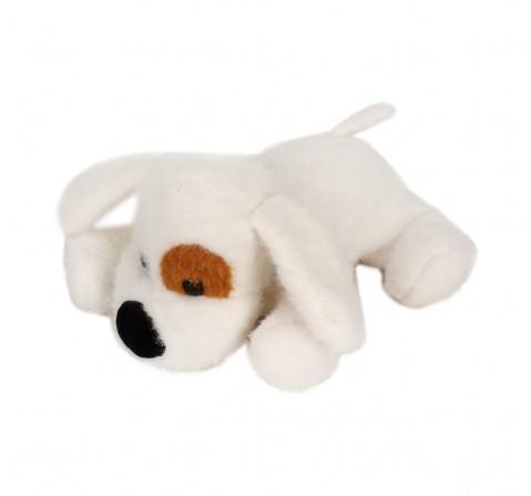 Fuzzbuzz Soft Lying Dog - White - 33Cm Quirky Soft Toys for Kids age 0M+ - 15 Cm (White)