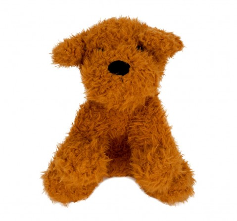 Fuzzbuzz Sitting Dog - Lt. Brown - 25Cm Quirky Soft Toys for Kids age 0M+ - 25 Cm (Light Brown)