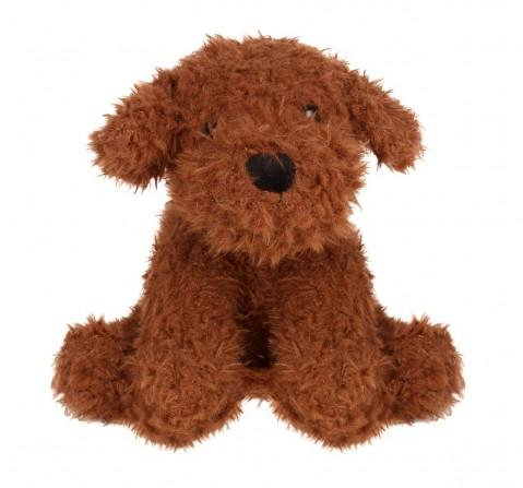 Fuzzbuzz Sitting Dog - Dark Brown - 25Cm Quirky Soft Toys for Kids age 0M+ - 25 Cm (Dark Brown)