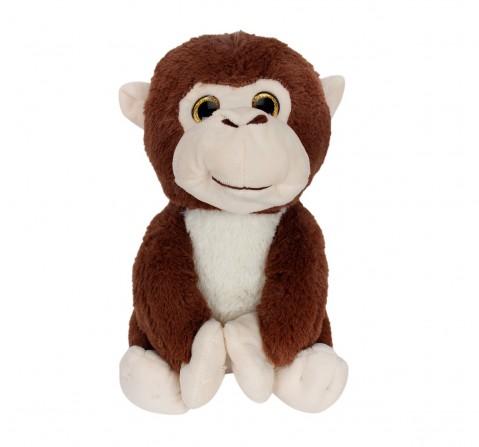 Fuzzbuzz Sitting Monkey - 25Cm Quirky Soft Toys for Kids age 0M+ - 25 Cm (Brown)