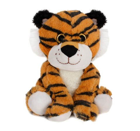 Fuzzbuzz Sitting Tiger - 25Cm Quirky Soft Toys for Kids age 0M+ - 25 Cm (Brown)