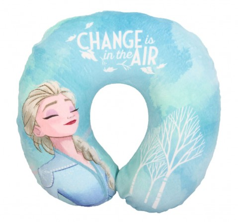 Disney Frozen2 U Shape Pillow, Light blue, 12Y+