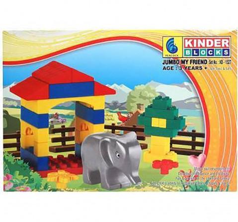 Peacock  Kinder - Jumbo My Friend Generic Blocks for Kids age 3Y+