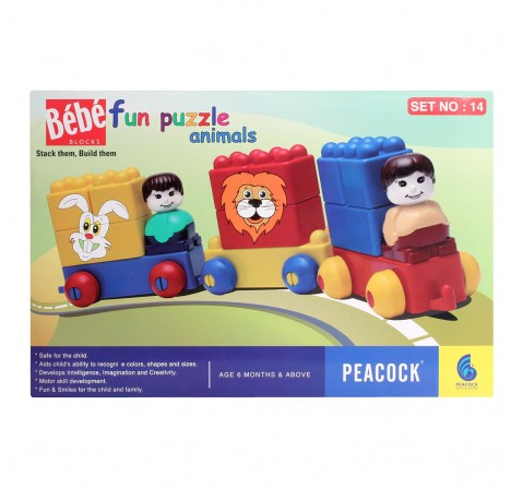 Peacock  Bebe Blocks Set No 14 Generic  for Kids age 6M+