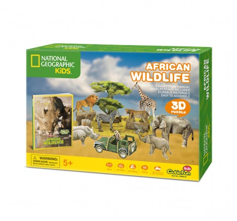 Cubic Fun National Geographic African Wildlife - 3D Puzzle  for Kids age 5Y+