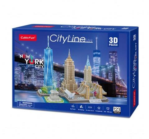 Cubicfun City Line New York City 3D Puzzle Puzzles for Kids Age 10Y+