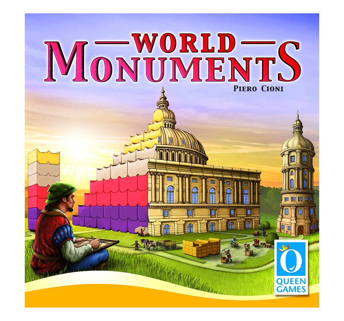 Queen Games World Monuments Board Games for Kids age 8Y+