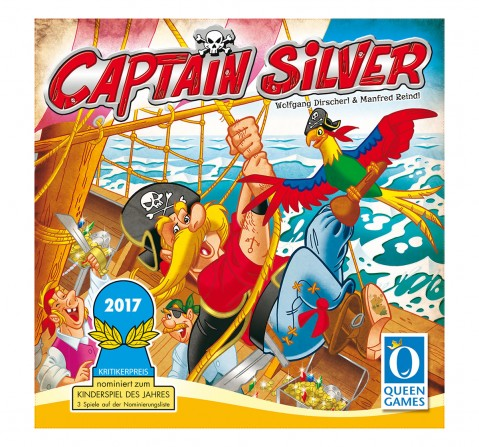 Queen Games Captain Silver Board Games for Kids age 6Y+