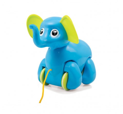 Giggles Alphy The Elephant Early Learner Toys for Kids age 12M+ (Blue)