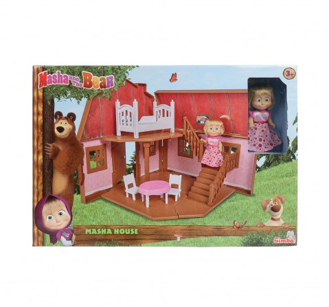 Masha And The Bear Masha House 2 Floors Foldable Doll House & Accessories for Kids age 3Y+