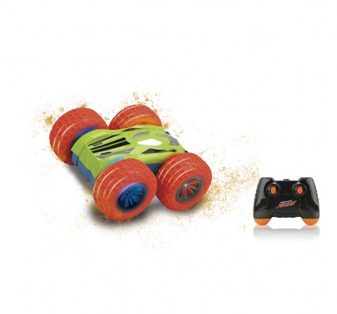 Dihua 13Cm 2.4G Remote Control Flip Over Stunt Car with Lights for Kids age 5Y+