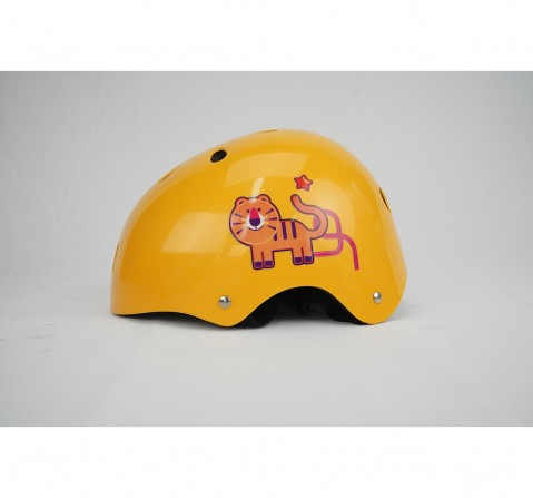 Zoozi Sports Helmet Tiger Sports & Accessories for Kids age 3Y+ (Yellow)