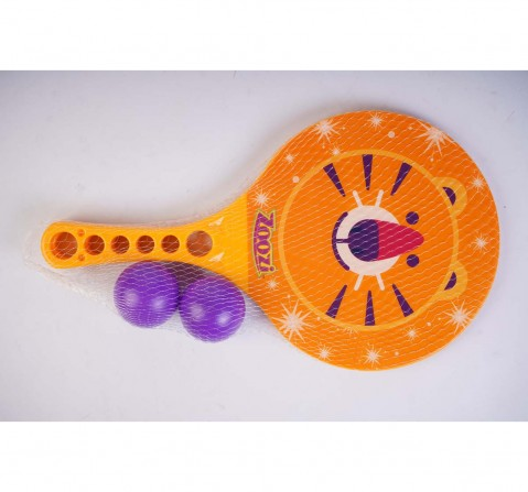 Zoozi Paddle Set Tiger Orange Outdoor Sports for Kids Age 3Y+ (Orange)