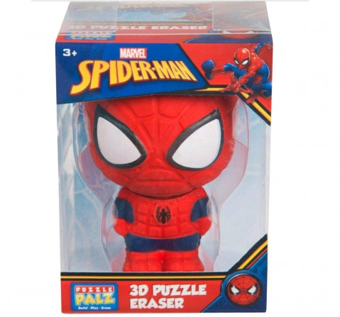 Marvel Spiderman Giant Eraser Puzzle 3D Figure School Stationery for Kids age 3Y+ (Red)